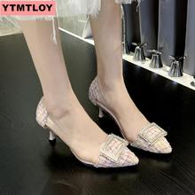 Sexy high heel ladies pointe shoes 2019 spring and autumn new square womens stiletto heels