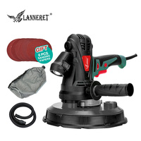LANNERET Electric Drywall Sander Wall Polisher Machine 1280W / 850W Dry Wall Sander Polisher Variable Speed LED Light Dust Free