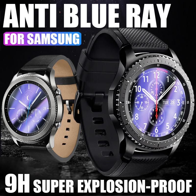 2.5D HD Protective Film For Samsung Galaxy Watch 42mm 46mm Gear S2 S4 Sport S3 Classic Frontier Screen Protector Tempered Glass 1