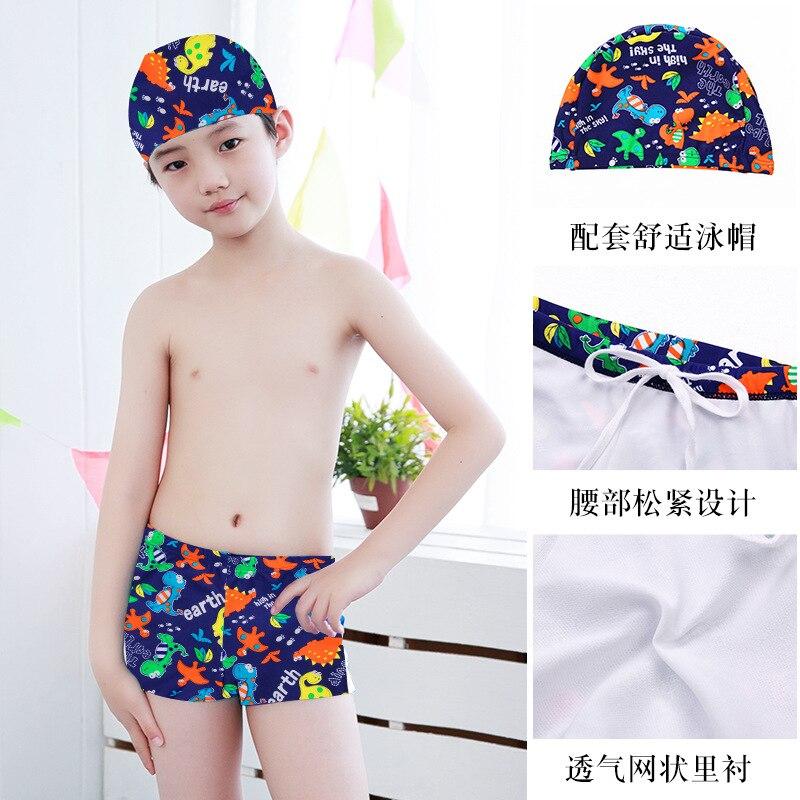 CHILDREN'S Swimwear Boys'swimmingtrunks Teenager Big Virgin Boy Baby AussieBum Swimming Cap BOY'S Swimming Trunks