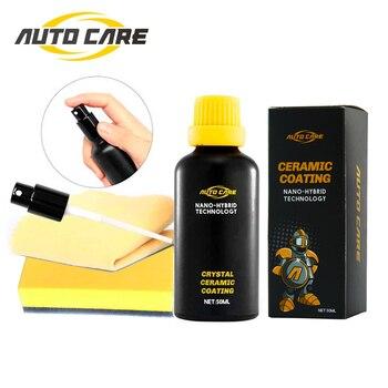 цена на Anti-scratch Car Polish Motocycle Paint Care Car Liquid Glass 50ML Ceramic Coat Super Hydrophobic Glass Coating Auto Detailing