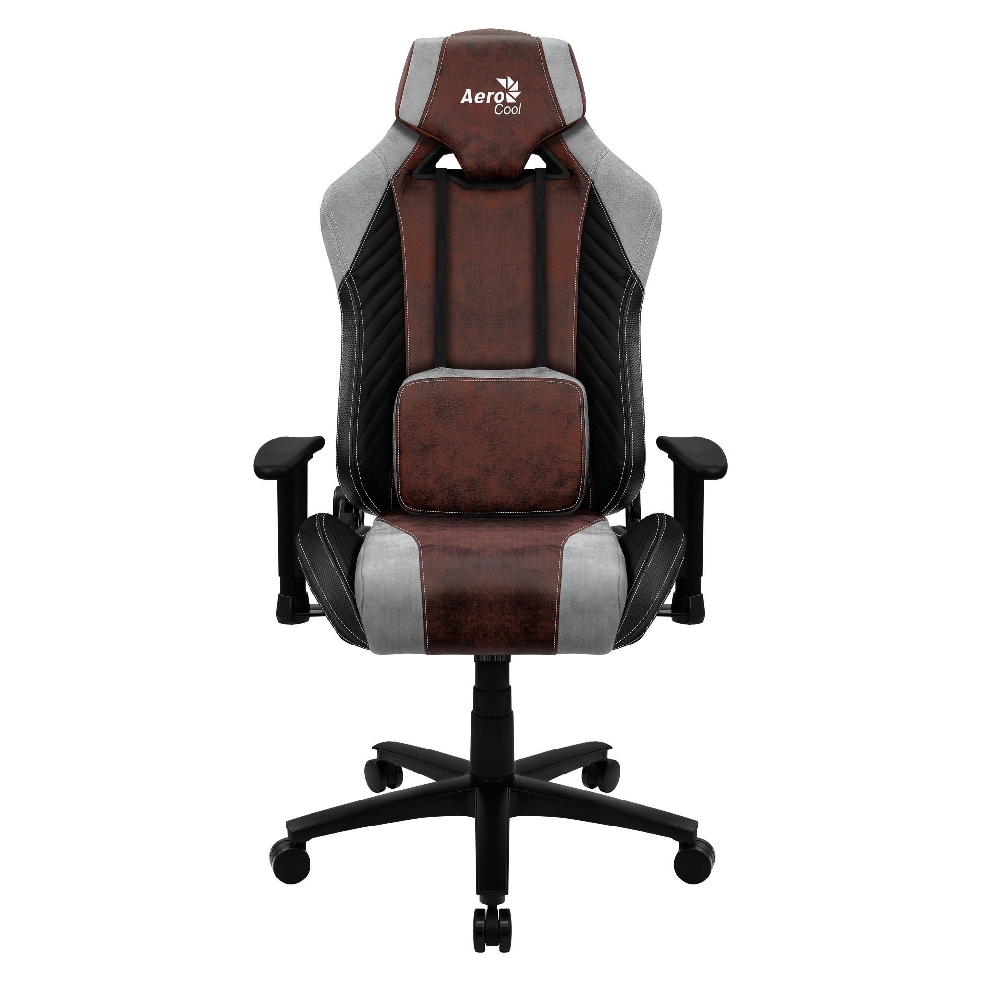 Aerocool BARON, Gaming Chair, AeroSuede, Breathable, Backstop Adjustable, Red