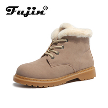 Fujin Fashion Snow Boots Women Warm Fur Ankle Female Winter Shoes Bota Booties