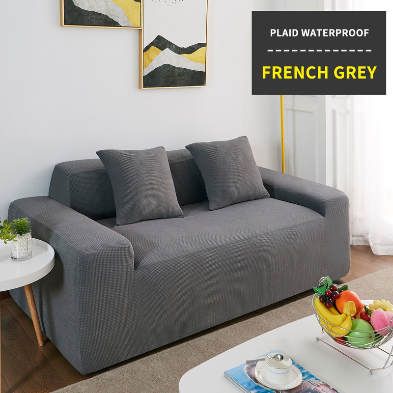 Waterproof Sofa Cover Solid Color High Stretch Slipcover All inclusive Elastic Seat Couch Cover Sofa Covers