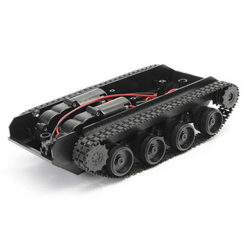 Rc Tank Smart Robot Tank Kit de Chasis de coche oruga de goma para Arduino 130 Motor Diy Robot juguetes para niños Caja de cambio creativo, Caja de Seguro para libro, Caja de Seguro para libro de simulación creativo europeo, Mini tanque de almacenamiento seguro