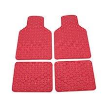 Универсальные 4 шт красные автомобильные коврики для ног из