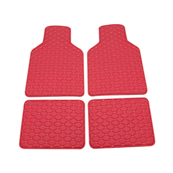Universal 4pcs Red Car floor mats PU Leather Car Foot pad for BMW g30 e90 f01 f10 f11 f25 f30 f45 x1 x3 Car accessorie image