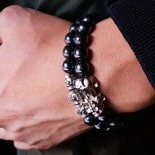 Магнитный гематитовый браслет фэн-шуй для мужчин и женщин, черный браслет для богатства и удачи Pi Yao