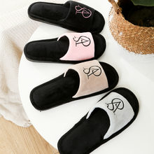 2021 spring new couple home floor cotton slippers men's home non-slip fur slippers ladies plus size slippers
