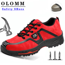 men Labor Insurance Shoes Men Breathable Deodorant Safety Work Shoes Steel Toe Caps Anti-smashing Anti-piercing Site Shoes 36-46