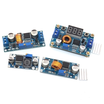 DC-DC Buck Converter 5A Adjustable Step Down Module LM2596 3A Power Supply Output 1.25V-30V dc dc 5a 4usb output step down buck converter 7 60v to 5v adjustable power supply module with case voltage transformer module