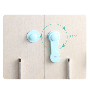 10pcs/lot Plastic Cabinet Lock Child Safety Baby Protection From Children Safe Locks for Refrigerators Security Drawer Latches