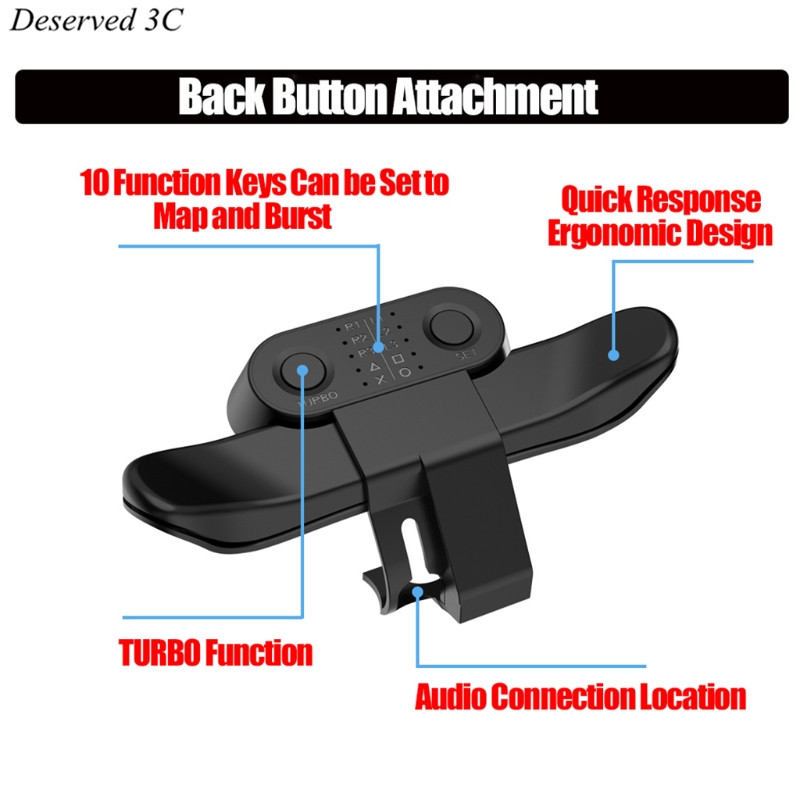 Gamepad geri düğme eki Joystick arka düğmesi Turbo için S-ONY PS4 R9CB