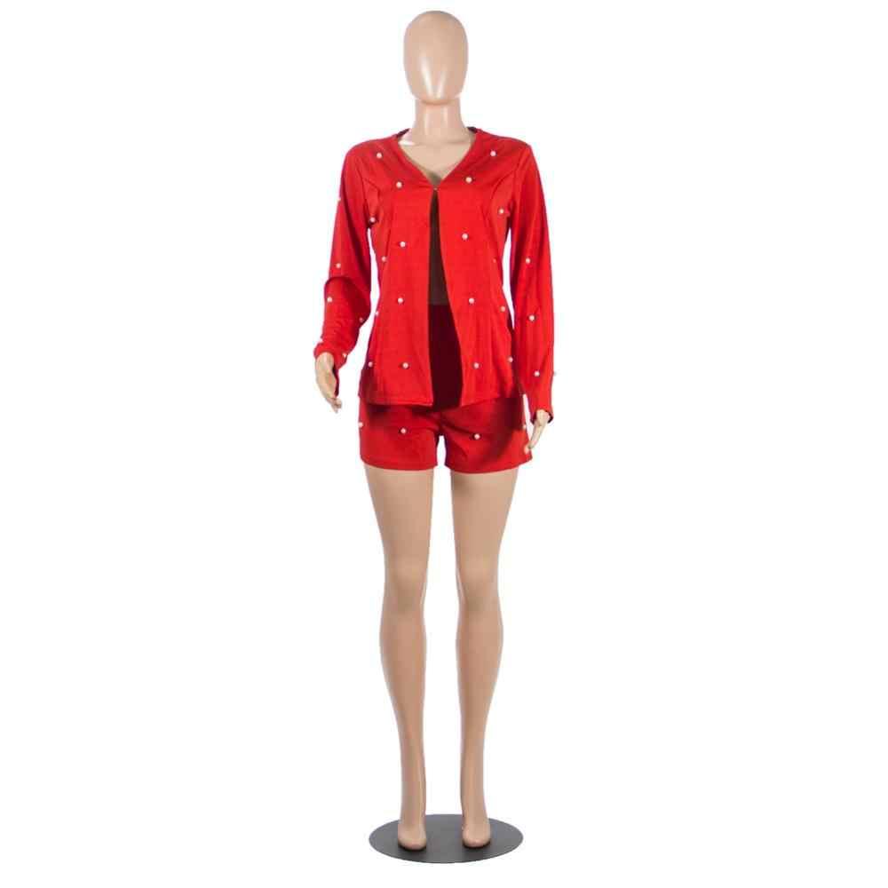 İnci Accent kadın ofis iş elbisesi hırka Blazer ceket ve şort takım elbise ince tam kollu iki parçalı Set gece elbisesi kıyafetleri
