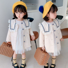 Jacket Windbreaker Girls Trench Children Lace MIEMBRO Autumn Winter for Clothing Casual