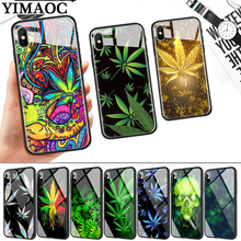 Abstractionism Art high weed Glass Phone Case for Apple iPhone 11 Pro XR X XS Max 6 6S 7 8 Plus 5 5S SE