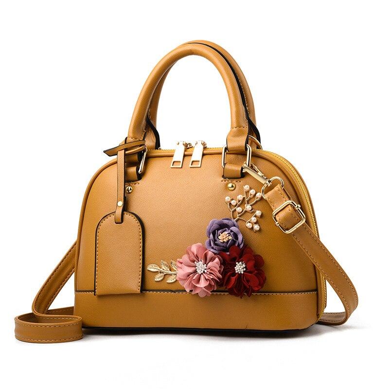 SHUNRUYAN nouvelles femmes sac en trois dimensions fleur mode décontracté fourre-tout sac à bandoulière sac à bandoulière fermeture éclair dames sac