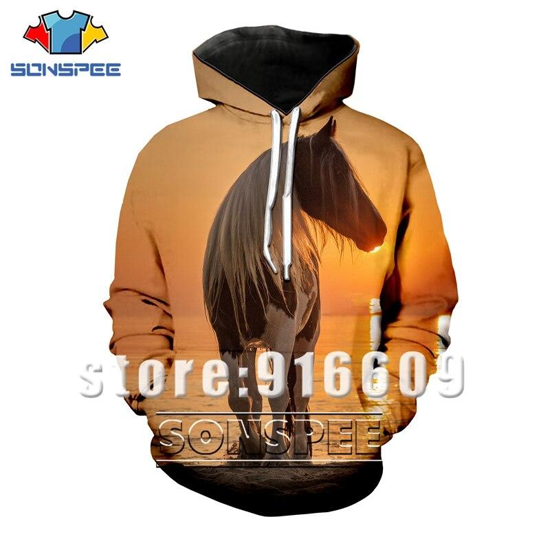 3D Print Animal Horse T-shirt Shorts Women/men Hip Hop Suit Dress Beach Kids Harajuku Hoodies Fashion Sweatshirts Sunset Zipper