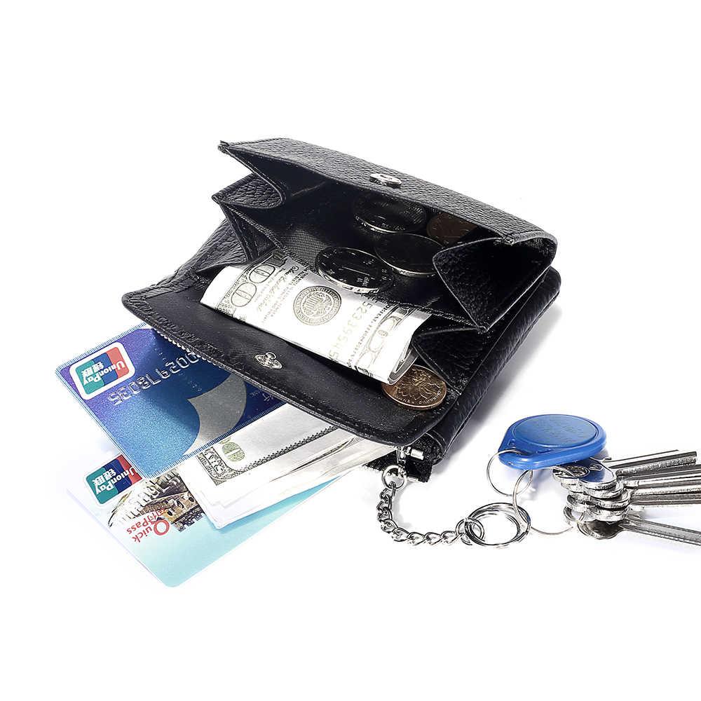 Женские кошельки из натуральной кожи, женские Мини-молния, кошелек для монет, женский маленький кошелек для мелочей, держатель для кредитных карт, кошелек для монет с кольцом для ключей