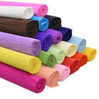 Rollo de papel crepé de colores para decoración, 50x250cm, Origami, crepé arrugado, bricolaje, artesanía de papel, flores, regalo, papel de regalo, fiesta en casa, suministros 75