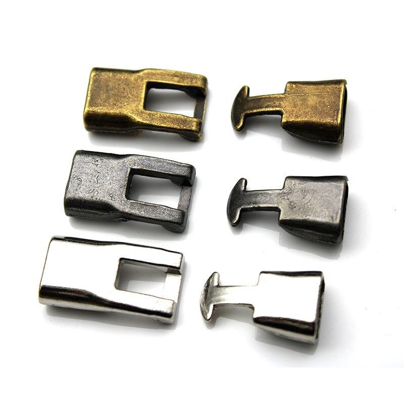 10set Antique Silver Bracelets End Clasps Hooks for 5*10mm flat Leather Cord Bracelets Connectors for DIY Jewelry Making Z454