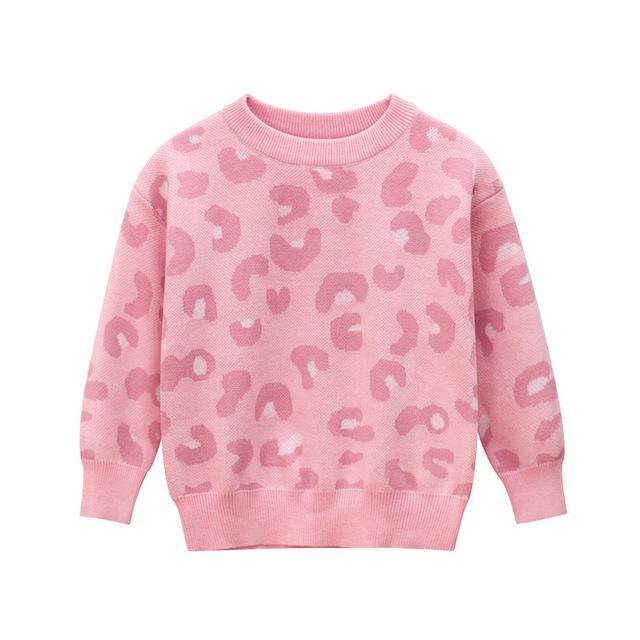 ربيع الخريف جديد وصول طفلة ملابس الأطفال سترة الاطفال البلوزات الفتيات الوردي طويلة الأكمام س الرقبة الاطفال محبوك سترة