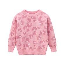 Ropa de primavera y otoño para niña, suéter para niño, suéteres para niño, Jersey rosa de manga larga con cuello redondo, Jersey de punto para niños