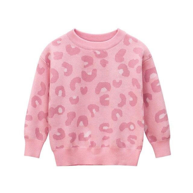 Wiosenny i jesienny nowy nabytek Baby Girl Clothes dziecięcy sweter dziecięcy swetry dziewczęcy różowy z długim rękawem O neck dziecięcy sweter z dzianiny