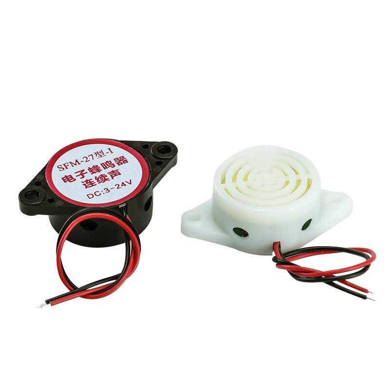 SFM-27 Electronic Buzzer DC3-24V High Decibels Alarm Continuous Sound Anti-theft Device