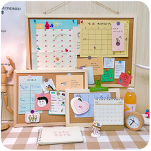 Gril Gift Cork Board Colorful MDF Wood Frame Photos Bulletin Board Message Memo Board Cork Pin Boards For Home With Accessories xindi 5 colors bulletin board mdf frame cork board 25 35cm photos pin memo cork message boards for notes home free shipping
