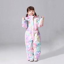 Новый зимний детский лыжный костюм, детская брендовая Водонепроницаемая теплая зимняя куртка для девочек, куртка для катания на лыжах и сно...