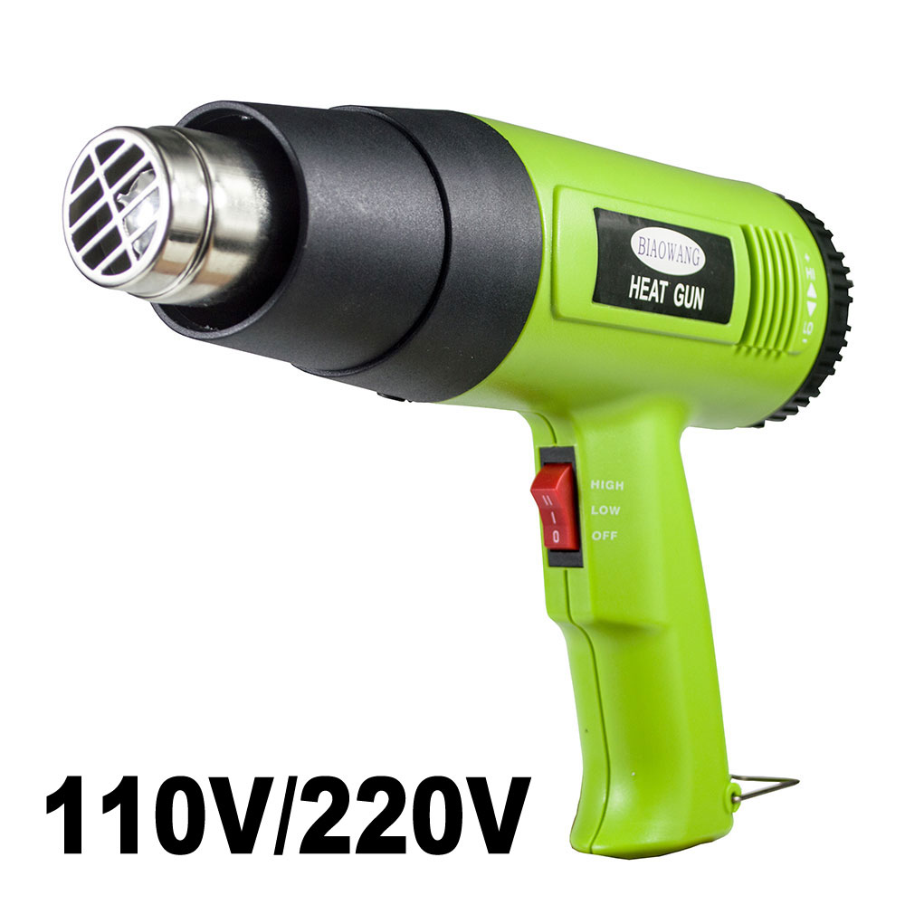 Thermal Blower Heat Gun 110V 220V Electric Hot Air Gun With 2 Steps Of Temerature 300/600 For Heat Shrink And Home DIY Embossing