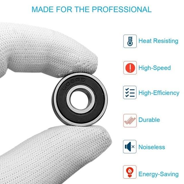 Купить 60pcs/set 608 2rs ball bearing abec 5 8x22x7 mm deep groove картинки цена