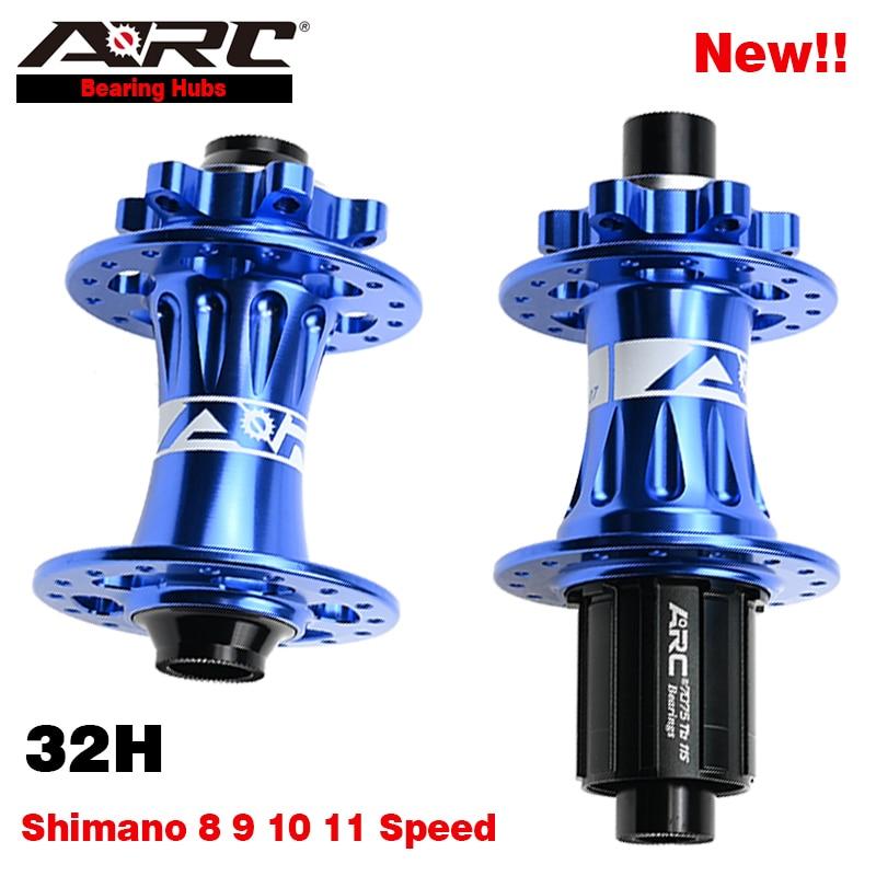 ARC 32h Disc Hub Mountain Bike Wheel Hub Front 9x100 10x135 Rear 15x100 12x142 Cycle Wheel Rim Hub 4 Pawls 48 Clicks Shimano 11V