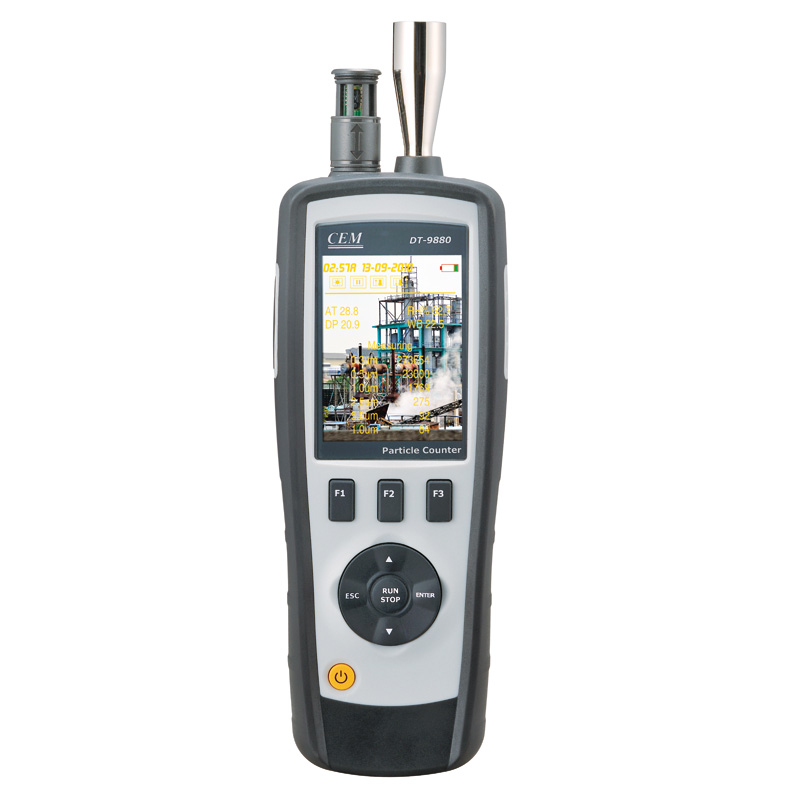 2020 Hot Sales Particle Counter With TFT Color LCD Display & Camera Functions