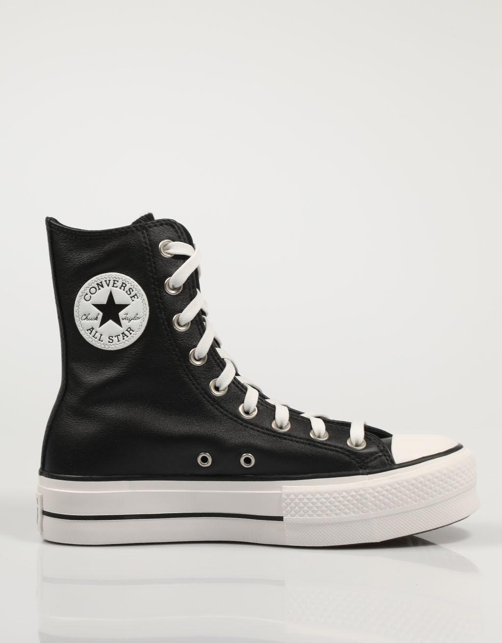 CONVERSE ZAPATILLAS CTAS LIFT BLACK 569721C Negro Piel Mujer – Black SNEAKERS Woman Shoes Casual Fashion 76534