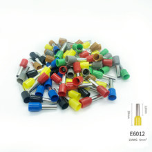 100PCS E6012 Tube insulating terminals AWG 10 Insulated Cable Wire 6mm2 Connector Insulating Crimp Terminal Connect 7 Colour fsc 156b non insulated tabs terminals plier crimper 1 5 2 5 4 6mm2 awg 20 10