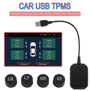 VODOOL TPMS Android Tire Pressure Sensor Monitor USB 3.0 for Android Car DVD Auto Radio Multimedia Player image