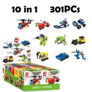 HIPAC High Tech Building Blocks Figures Toys for Kids Set Robot Machine Gun Escort Ship Blocks Building Technic Military Car(China)