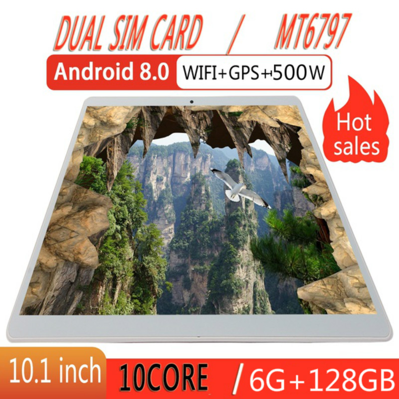 Android 8.0 10.1inch Tablets With 6GB+128GB Bluetooth WiFi Tablet PC Support Dual SIM Card Tablet With 4G Phone Call Tablet