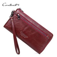Brand New Genuine Leather Women Clutch Wallets Multiple Cards Holder Long Female Purse With Phone Bag Fashion Woman Wallet 3157 fashion women wallet leather small crossbody bags girls purse multiple cards holder phone pocket female standard wallets