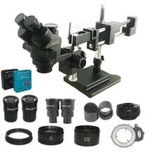Mẫu Mới 3.5X 180X Đôi Bùng Nổ Trinocular Stereo Kính Hiển Vi Công Nghiệp Hàn 38MP USB USB Microscopio Camera Điện Thoại Bộ Dụng Cụ