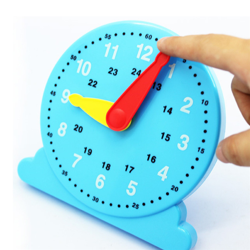 Kindergarten Baby Toy For Children Cognition Blue Clock Education Toy Early Learning Montessori Brinquedos Juguetes