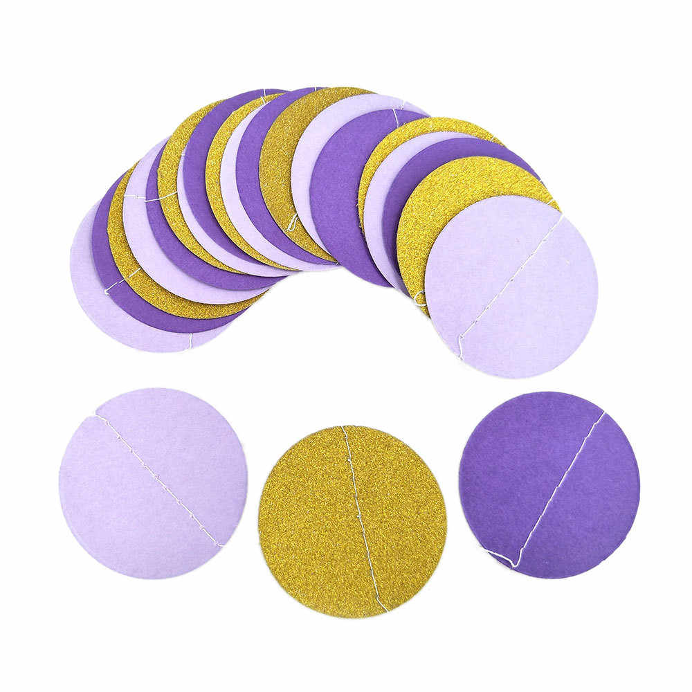 Glitter Cirkel Stippen Guirlande Banner Bunting Party Decor Roze Wit En Goud Dropshipping decoratie Accessoires Meubels 2