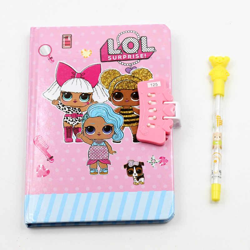 LOL niespodzianka lalki notatnik pióro napisz pamiętnik podręcznik 80 stron z kodem ID 4 style format papieru zabawki dla dzieci