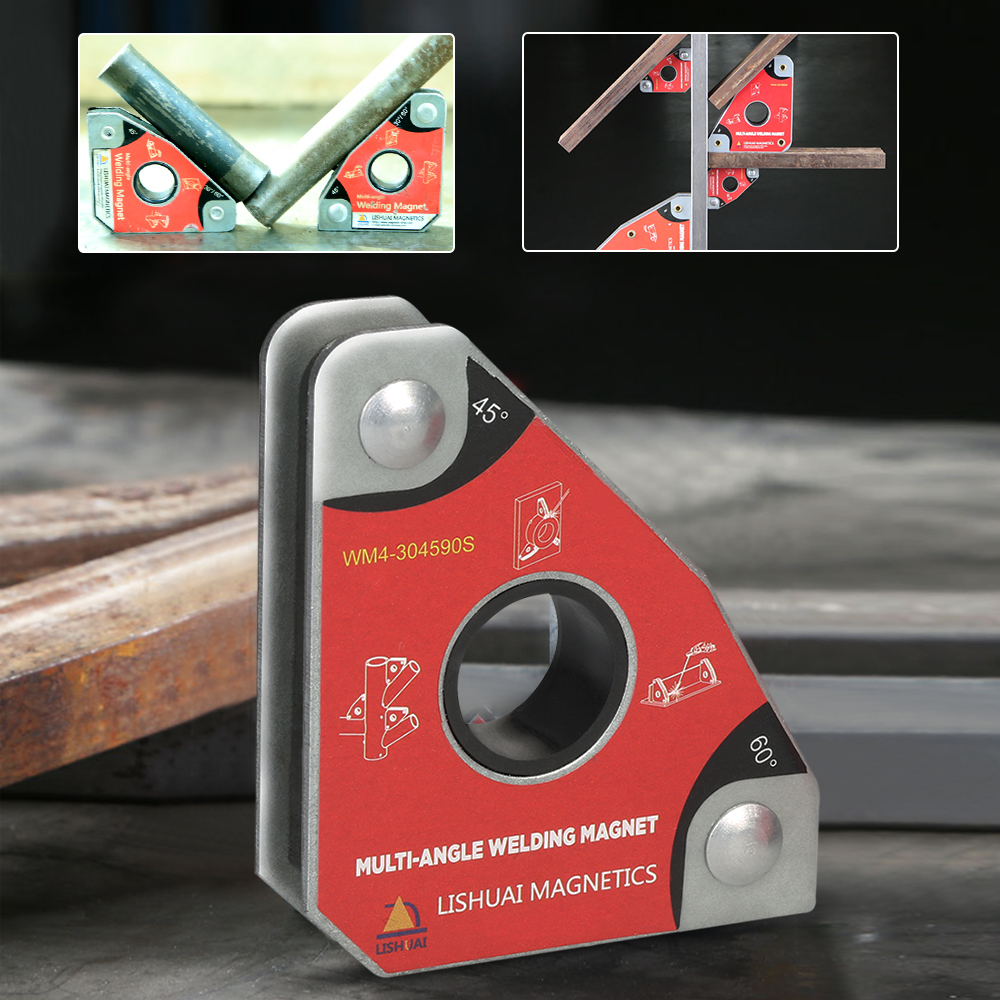 Hot 2pcs Multi-angle Mini Welding Magnets Neodymium Clamp Holder Never Degaussing Lifting Welding Positioner 30 60 45 90 degrees