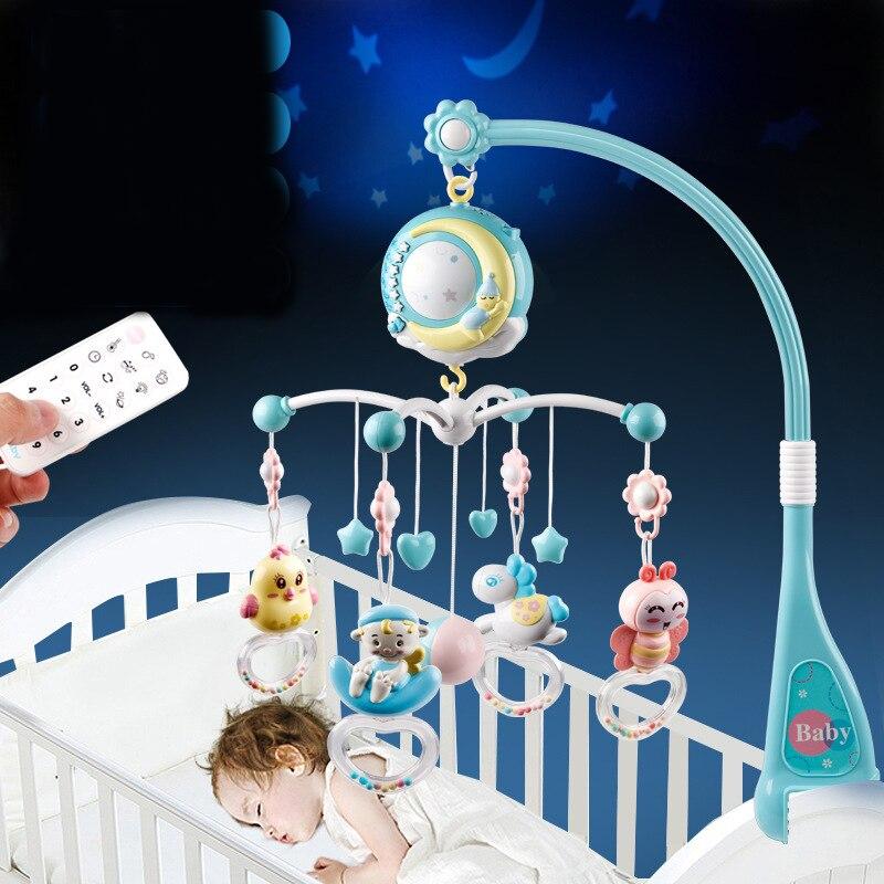 Bébé hochets berceau Mobiles support de jouet lit tournant lit Mobile boîte à musique Projection 0-12 mois nouveau-né infantile bébé garçon jouets