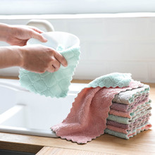 Kitchen Towel Nonstick Oil Coral Velvet Towels Cloth Dishclout Magic Oil Resistant Cleaning Pads Microfiber Cleaning Towel Dish