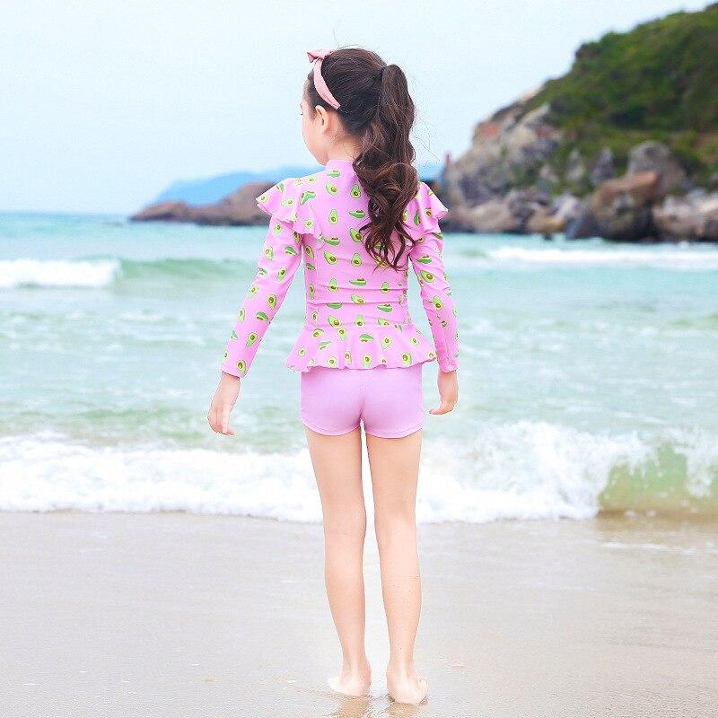 New Style Split Skirt-GIRL'S Swimsuit Cute Printed Korean-style Princess Bubble Hot Spring Holiday Beach Baby Girls Swimwear