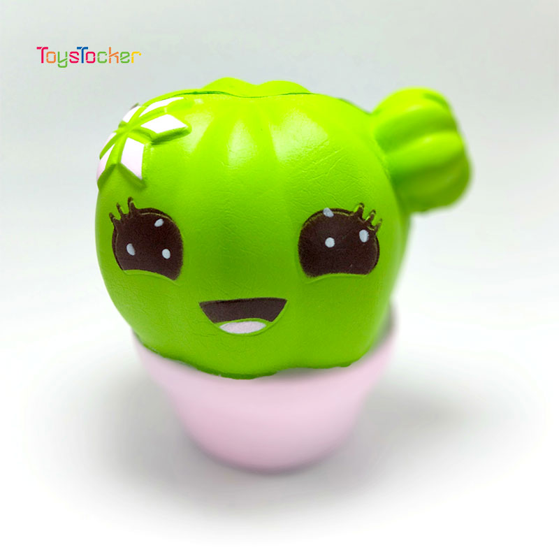 High-Quality Cactus Modeling Squishy Slow Rising Soft Squeeze Toy Phone Strap Scented Relieve Stress Funny Kid Xmas Gift